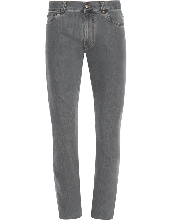 Canali Gray 5-pocket jeans in stretch cotton-2_0