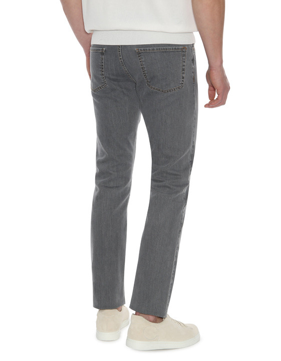 Canali Gray 5-pocket jeans in stretch cotton-2_2