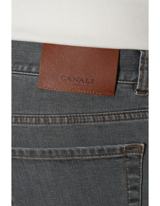 Canali Gray 5-pocket jeans in stretch cotton-2_3