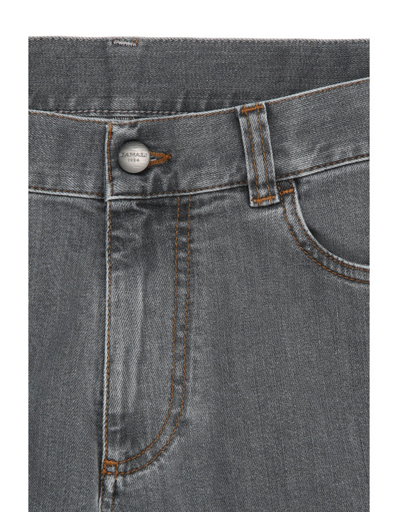 Canali Gray 5-pocket jeans in stretch cotton-2_4