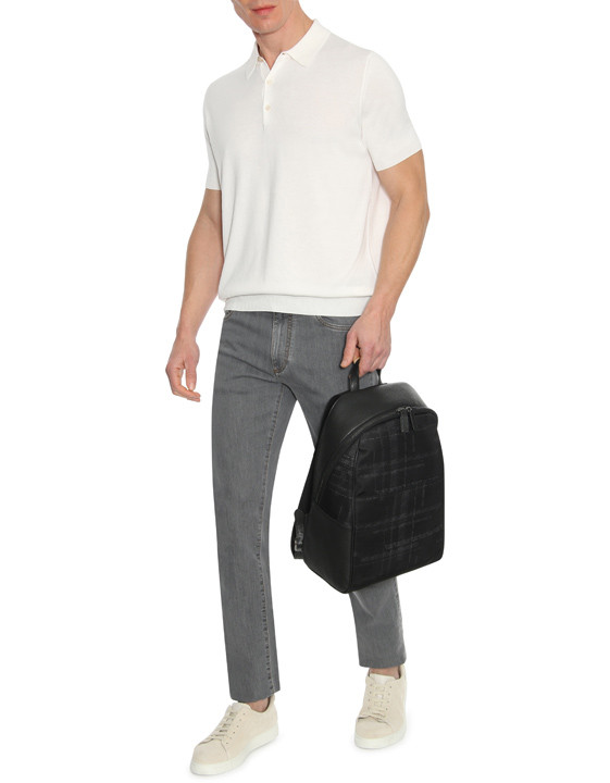 Canali Gray 5-pocket jeans in stretch cotton-2_5