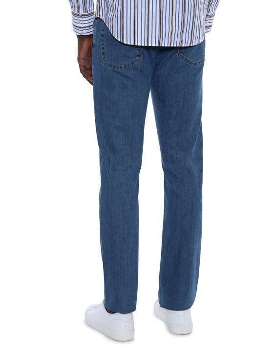 Canali Medium wash 5-pocket jeans in stretch cotton-2_2