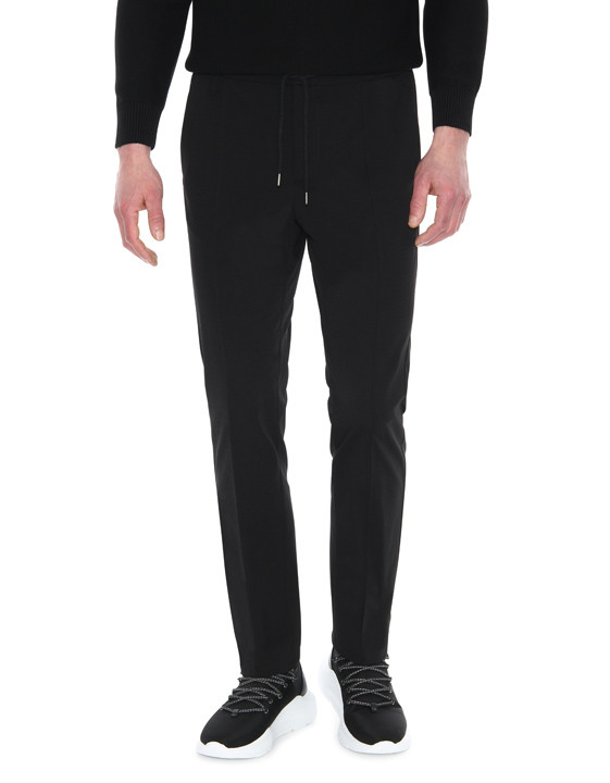 Canali Black Edition chinos with drawstring-2_1