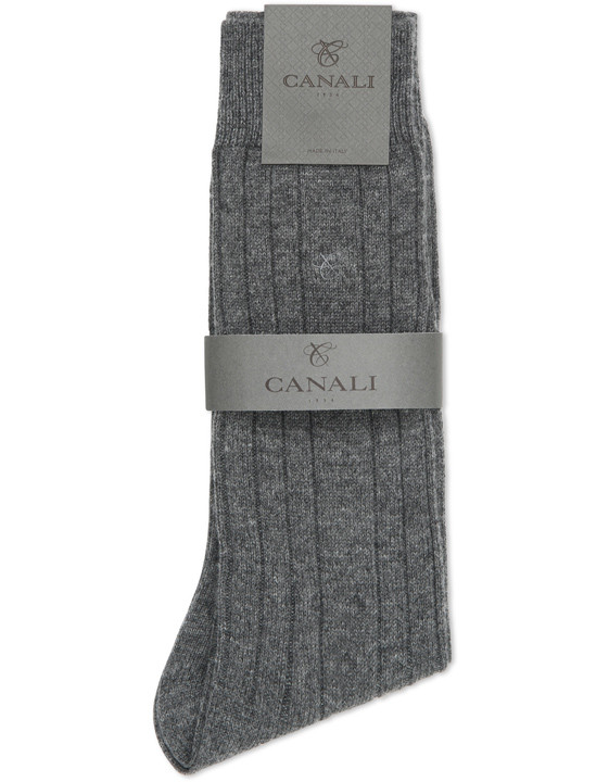 Canali Black and Gray Cashmere sock two-pack-2_3