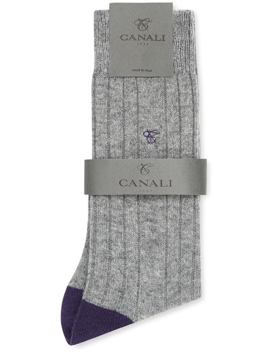 Canali Purple and Gray Cashmere sock two-pack-2_3