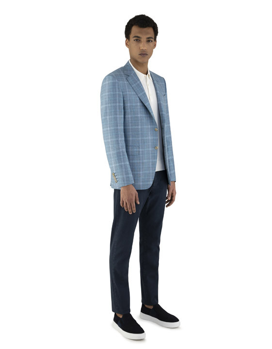 Canali White cotton polo shirt with ribbing-2_1