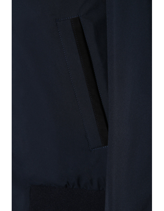 Canali Navy waterproof bomber with detachable hood-2_3