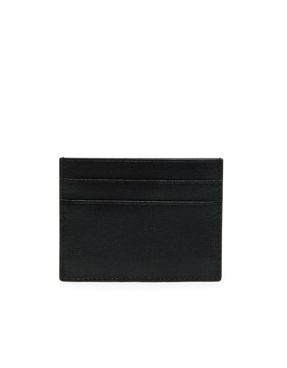 Canali Black Saffiano Calfskin Leather Card Holder-2_0