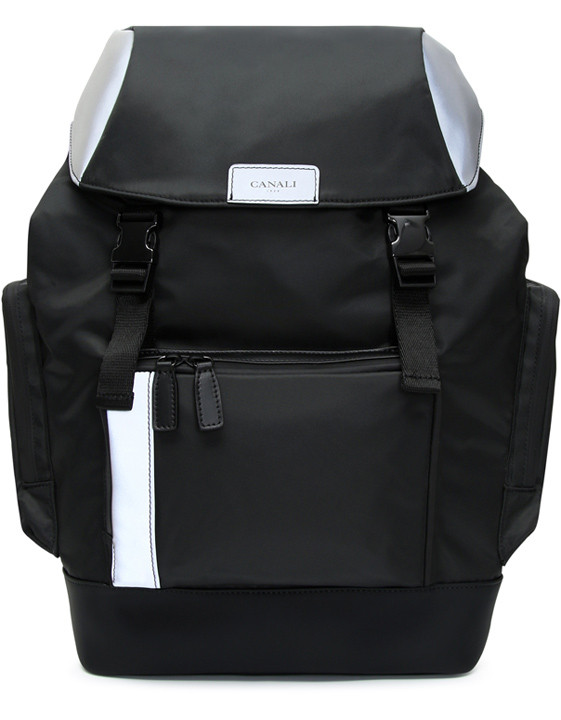 Canali Black Edition backpack with white details-2_0