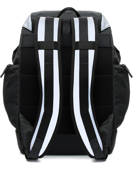 Canali Black Edition backpack with white details-2_1