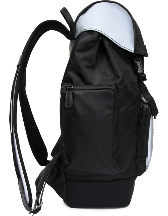 Canali Black Edition backpack with white details-2_2