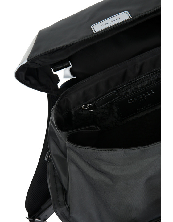 Canali Black Edition backpack with white details-2_3