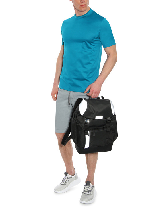 Canali Black Edition backpack with white details-2_4