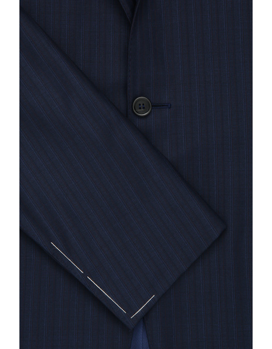 Canali Exclusive striped wool suit blue-2_2