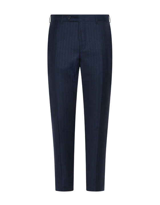Canali Exclusive striped wool suit blue-2_3