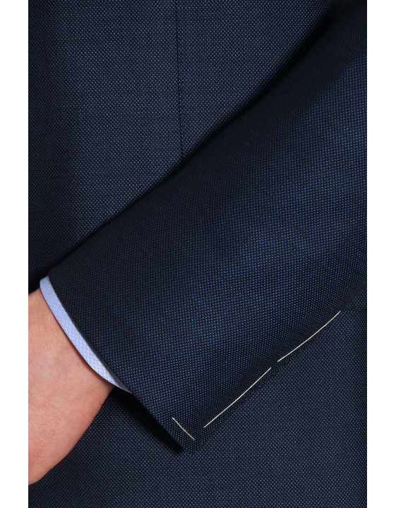 Canali Navy Exclusive suit with pin dot motif in Super 160's wool-2_2
