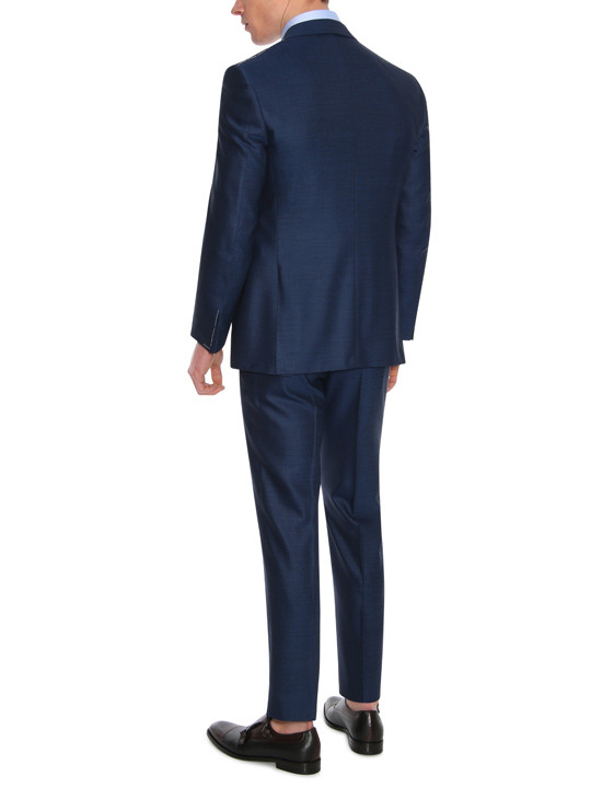 Canali Navy Exclusive suit with pin dot motif in Super 160's wool-2_3