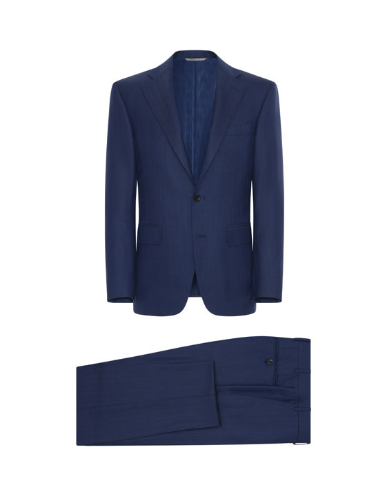 Canali Exclusive striped wool suit blue-2_0