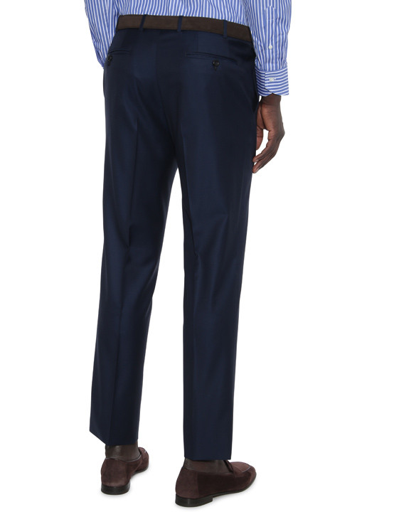 Canali Navy dress pants in super 150's wool-2_2