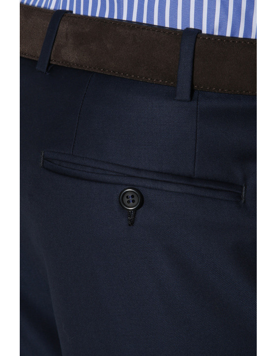 Canali Navy dress pants in super 150's wool-2_3