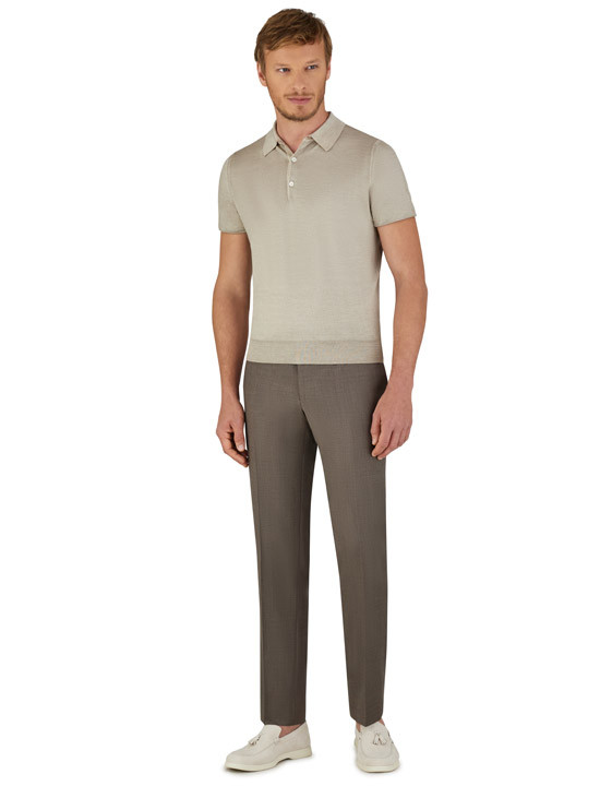 Canali Brown dress pants in super 150's wool-2_1