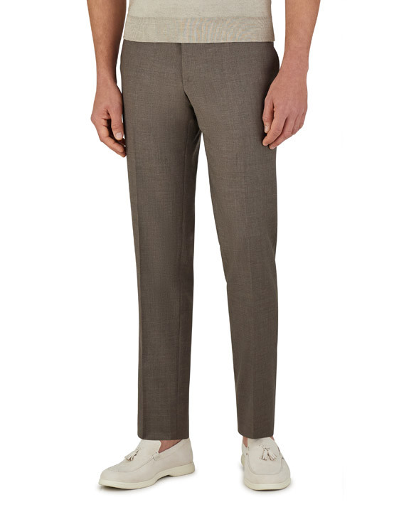 Canali Brown dress pants in super 150's wool-2_2