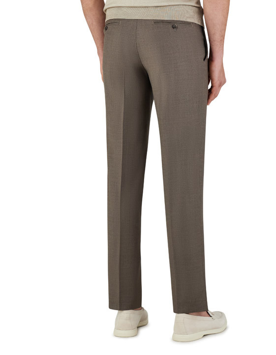 Canali Brown dress pants in super 150's wool-2_3