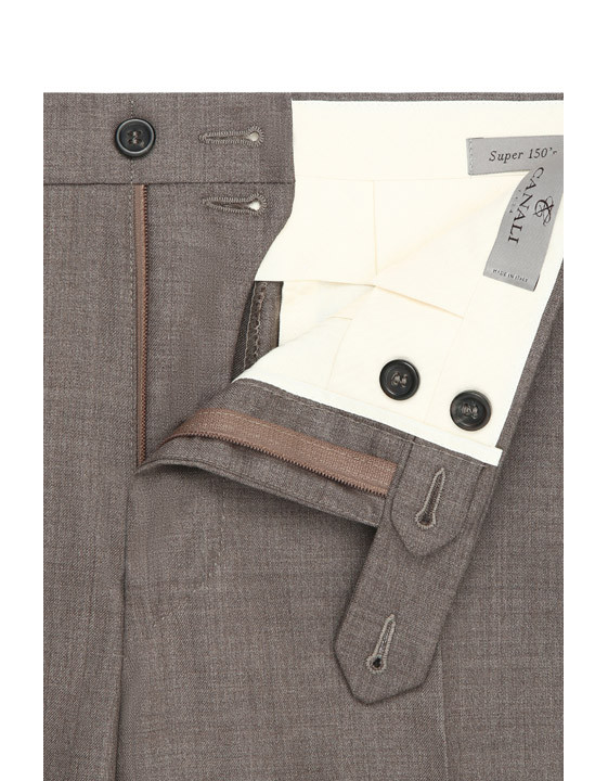 Canali Brown dress pants in super 150's wool-2_5