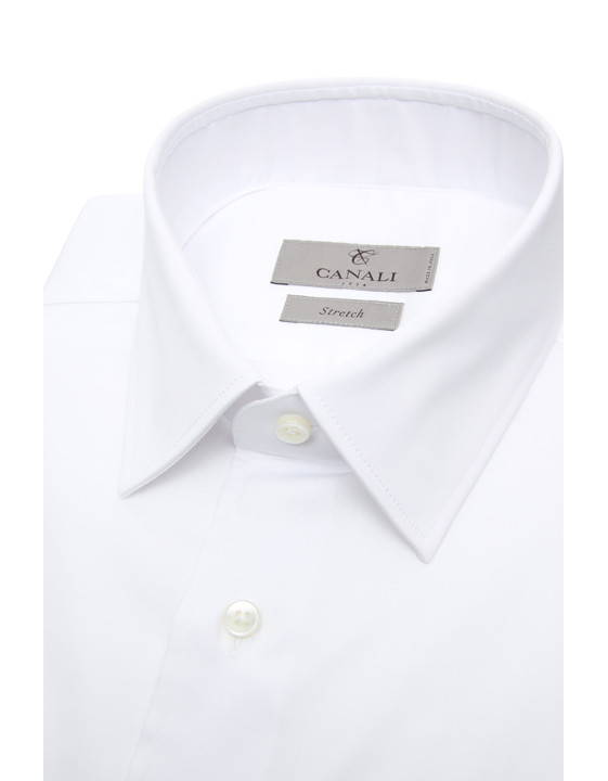 Canali White dress shirt in cotton blend-2_2