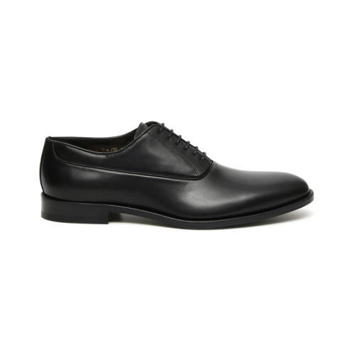 Black buffed calfskin Oxford shoes