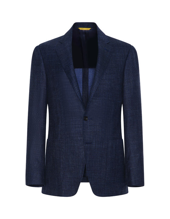 Blue Kei blazer in wool-silk-linen blend