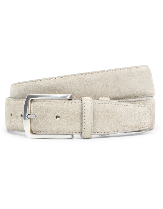White suede belt