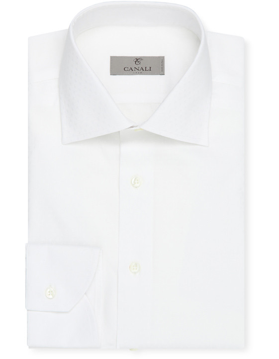 White Cotton modern fit shirt