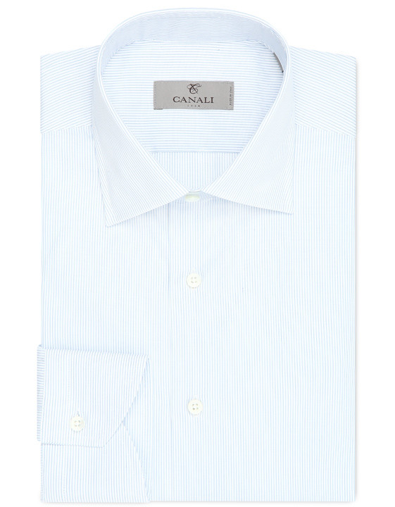 Cotton modern fit shirt with stripes