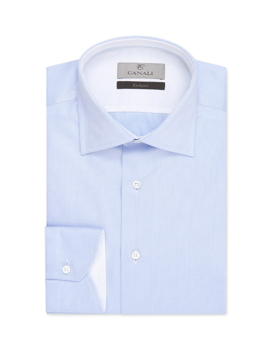 Modern fit dress shirt light blue