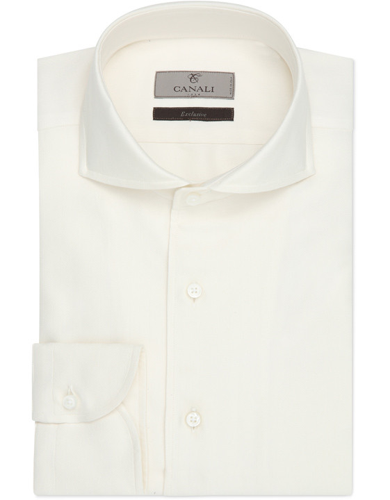 Silk cotton and cashmere modern fit shirt - Exclusive
