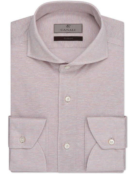 Cotton silk linen modern fit shirt - Exclusive