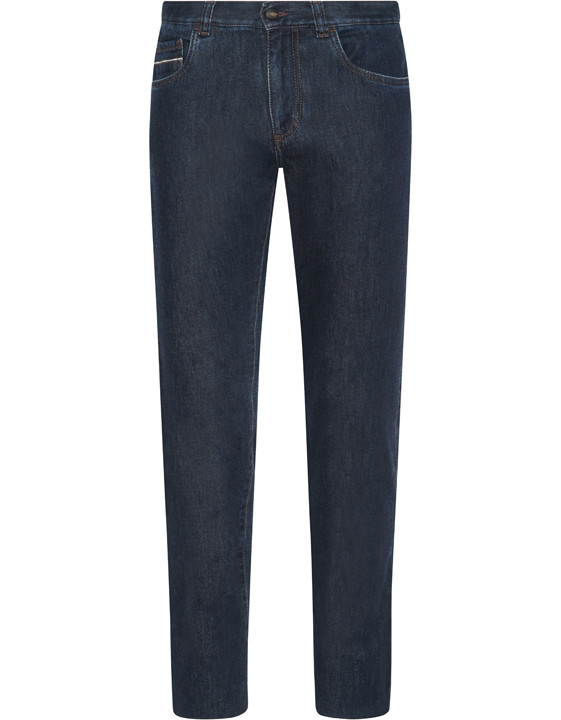 Cotton and cashmere slim fit denim - Exclusive
