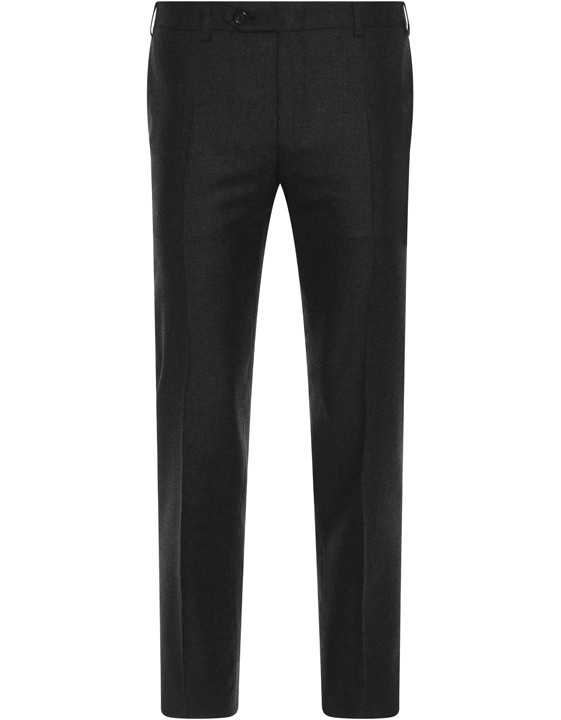 Anthracite wool and cashmere dress pants - Exclusive