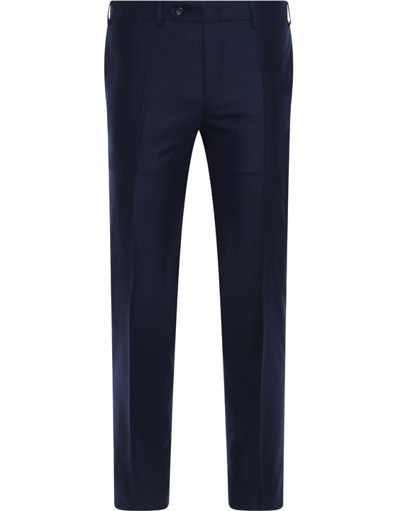Navy blue wool and cashmere dress pants - Exclusive