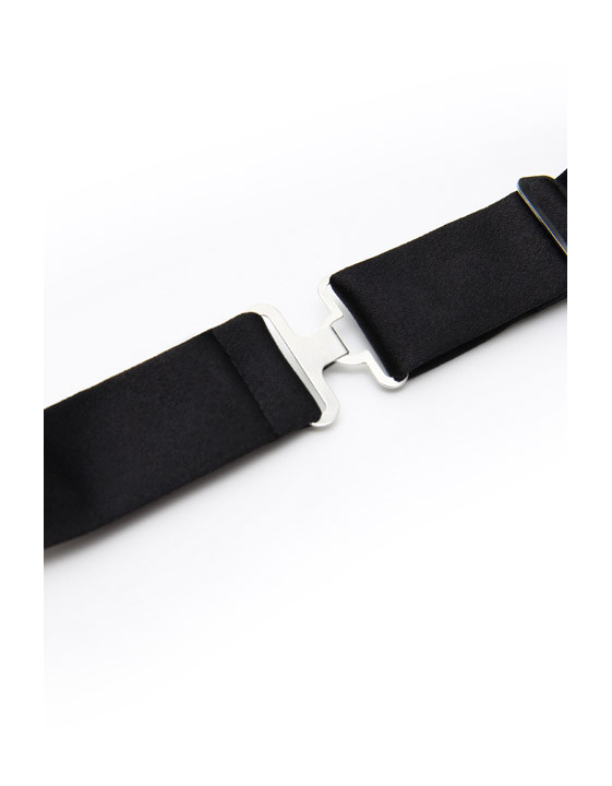 Black Silk Formal Bow Tie