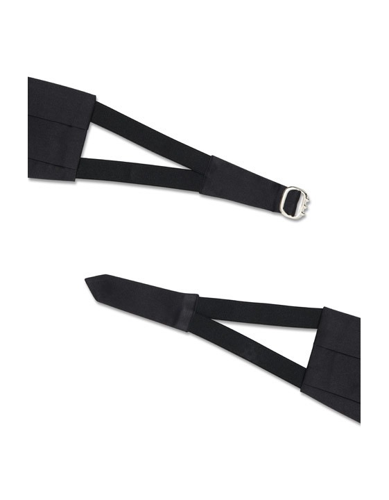 Extra Large Black Silk Cummerbund
