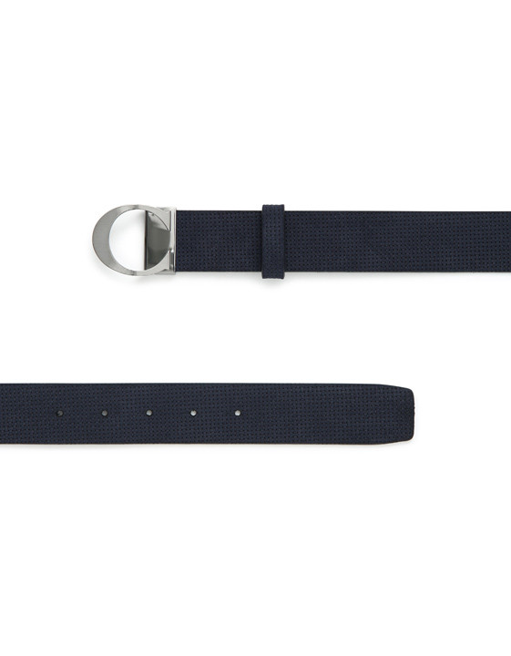 Navy sharp-cut calfskin with C buckle