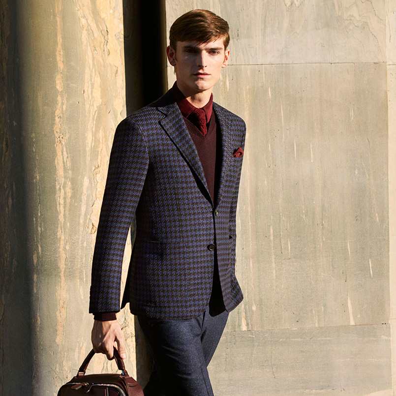How to style a men's houndstooth Kei Jacket | Canali