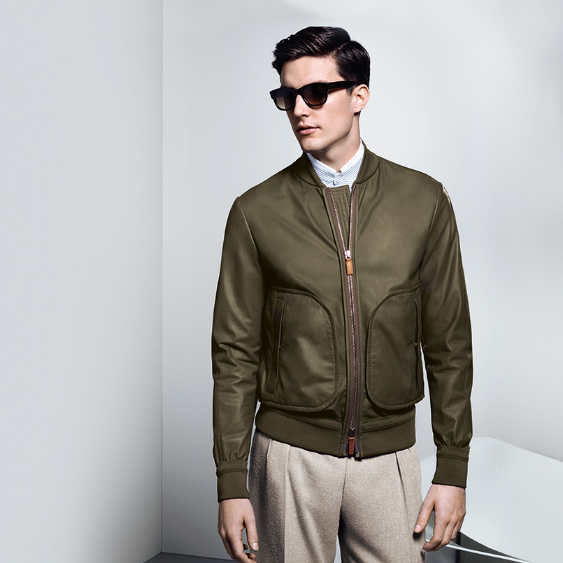 Contemporary leather bomber jackets for men | Shop on Canali.com