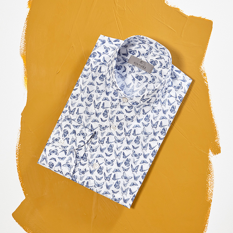 Bold colors and whimsical motifs for your Spring shirts and ties | Shop on Canali.com