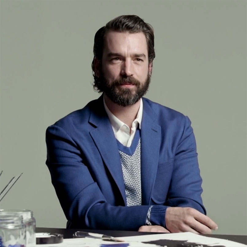 Dutch artist Job Wouters for Canali.com