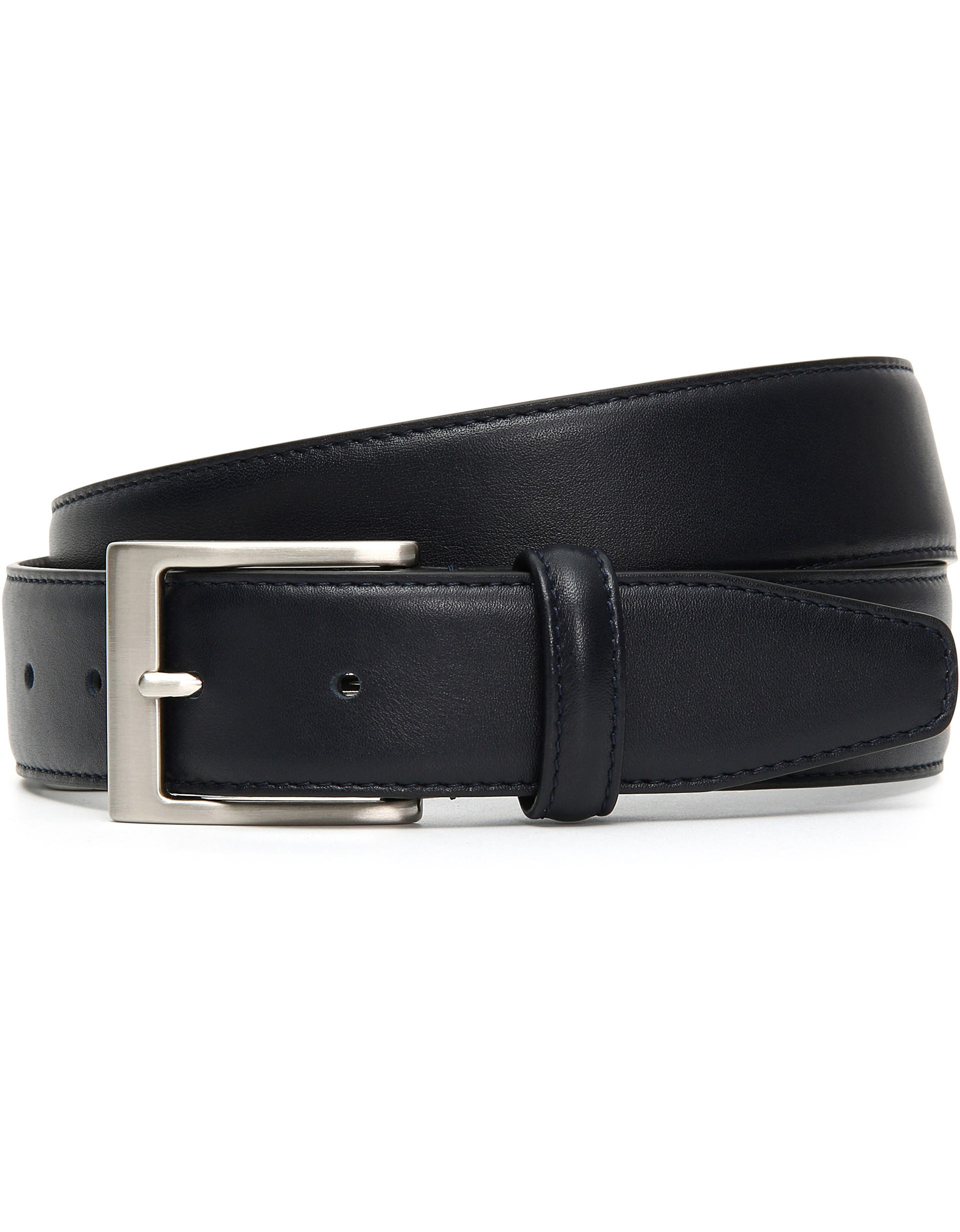 Blue Calfskin leather belt