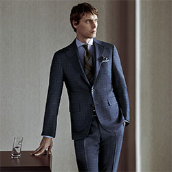 blue suit power dressing