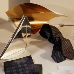 tie and pocket squares